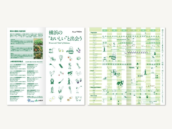 JA横浜 リーフレット〈アートディレクション グラフィックデザイン〉